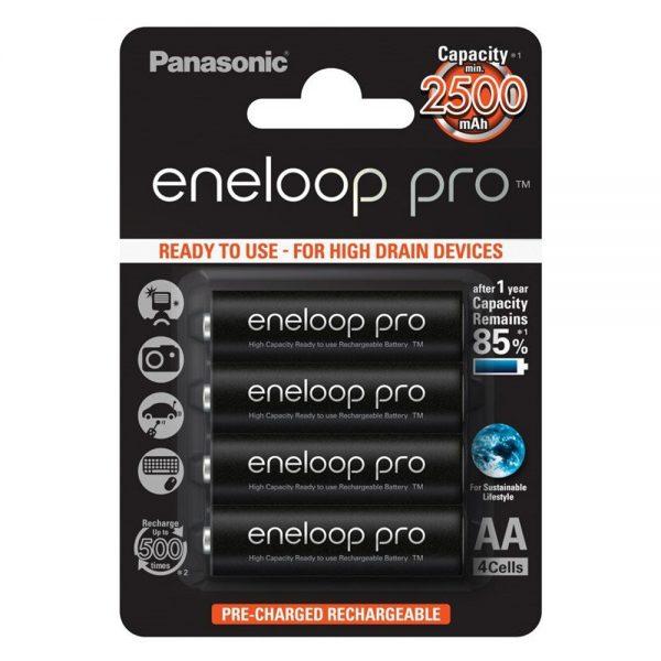 Akumulatorki AA / R6 Panasonic Eneloop PRO 2500mAh BK-3HCDE/4BE