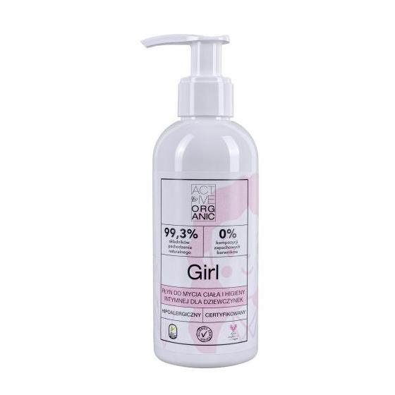 Płyn do mycia ciała i higieny intymnej, dla dziewczynek GIRL, z pompką, 200 ml